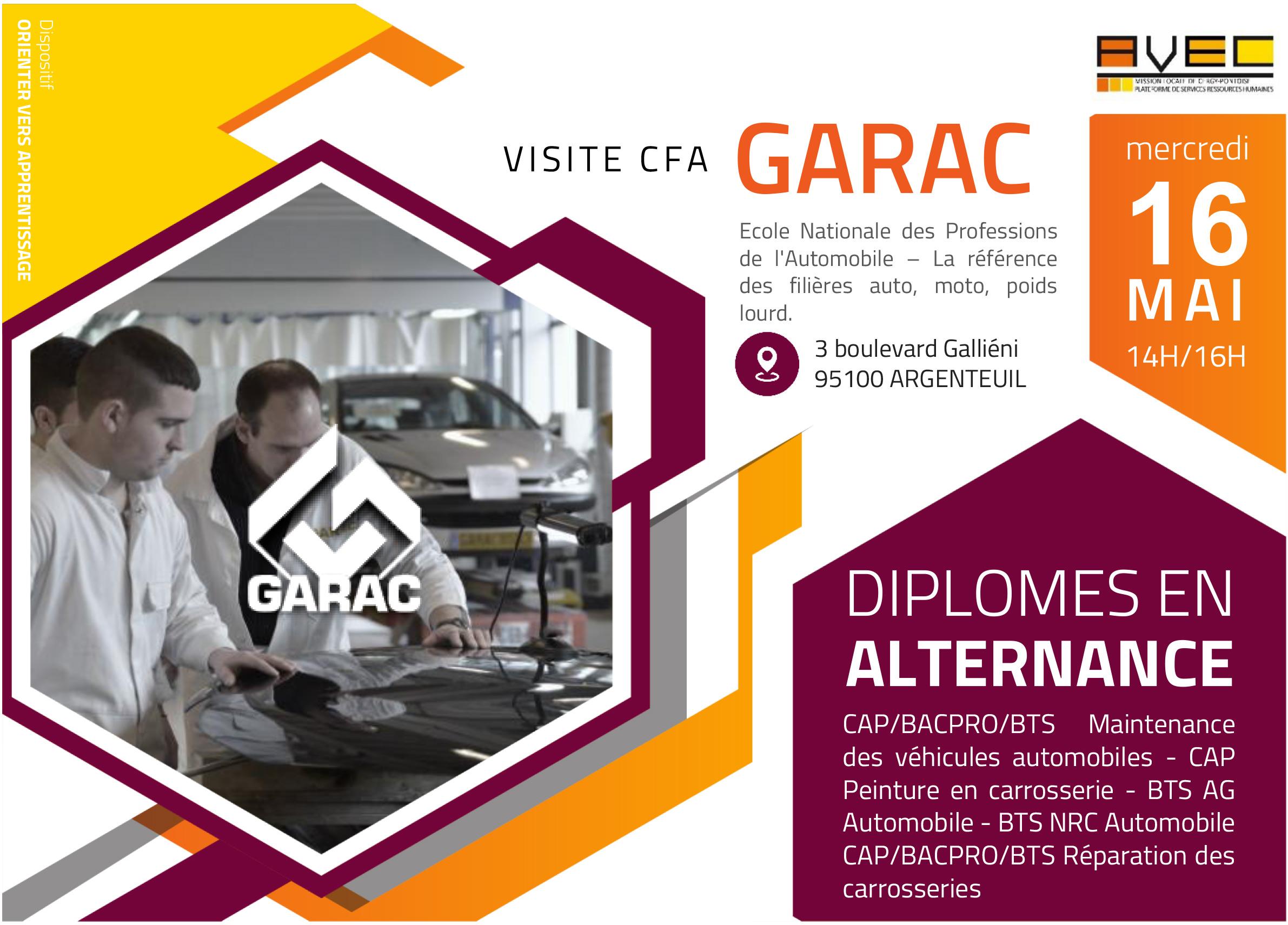 Flyer visite CFA Garac
